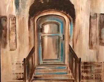 Blue Gray Door