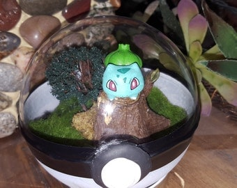 Bulbasaur Pokeball Terrarium