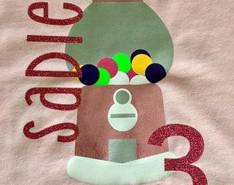 Bubblegum Machine Birthday Shirt