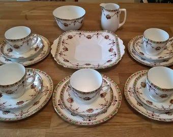 MELBA VINTAGE bone china tea set C. 1930