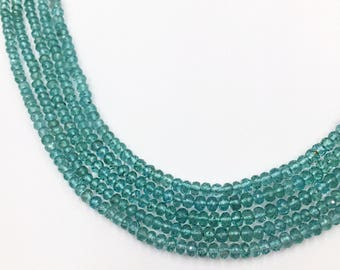 """Apatite Faceted Round Beads 16""""  (Multiple sizes)"""