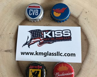 Assorted 6 pack of beer cap magnets