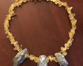Quartz and Silver Necklace