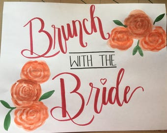 Brunch With The Bride Sign