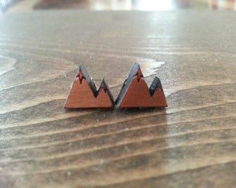 Tiny Mountain Stud Earrings