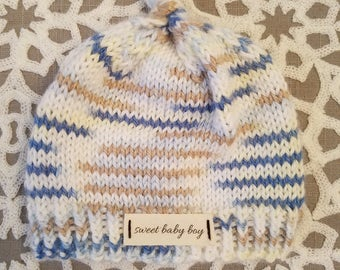 Sweet Newborn baby boys knitting hat cap