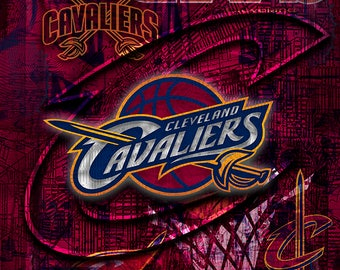 Cleveland CAVALIERS Poster, Cleveland Cavaliers Print, Cleveland Cavaliers Art, Cavs Gift, Cavs Man Cave