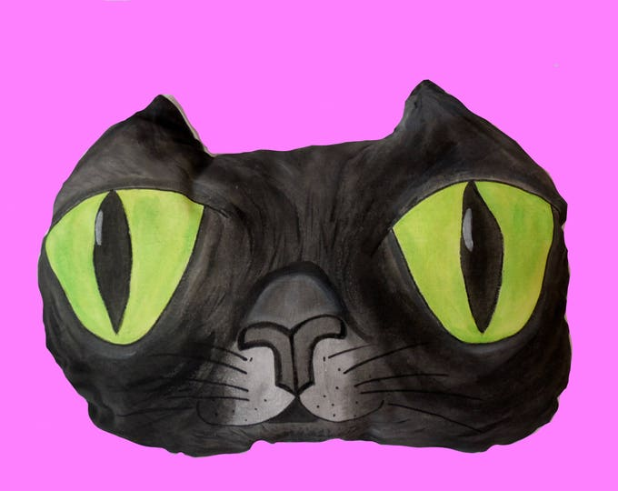 Cat Pillow,Pillow,Handmade,Pet Pillow,Cute,Home Decor,Black Cat,Cat,Kitten,gift,Art,Cat pillow pattern,pillows,pillow cat,Pillow pet,3d,mom