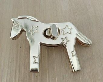 2pcs 65x46 mm gold horse Purse lock gold twist purse turn lock clutch clock Turn Lock Fastner,Purse bag handbag Latch hardware