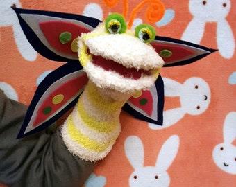 Butterfly sock puppet