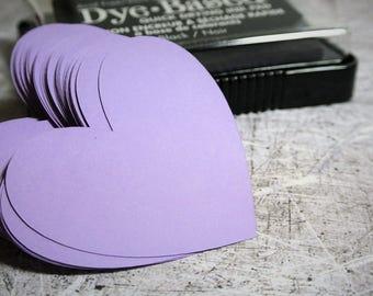 """Die Cut Hearts 2"""" Medium Purple"""