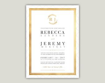 Wedding Invitation. Printable Wedding Invitation Card. Custom Invitation Card. Wedding Invites, Wedding Invitation Template Download.