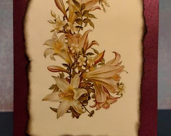 Lilly Flower Sympathy Card