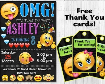 Emoji invitation Emoji birthday invitation Emoji invite Emoji birthday outfit Emoji invitations Smiley face Emoji party Emoji party invite