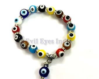 Multi-Colored Evil Eye Bracelet