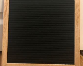 """10""""x 10"""" Real Wood Frame Felt Letterboard with 290 3/4'' Characters"""