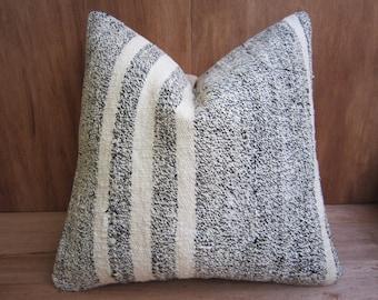 home living,home decor,vintage,kilim pillow,turkish pillow,rustic decor,handwoven pillow,throw pillow,accent pillow,16x16,decorative pillow