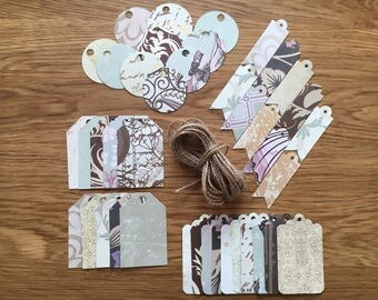 Vintage gift tags, die cut gift tags, gift tags, paper gift tags, vintage tags