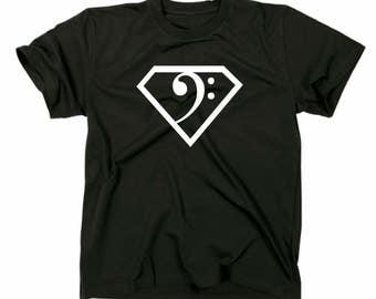 Bass bass clef Superman T-Shirt