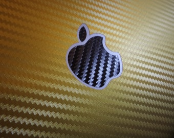 Apple logo sticker carbon fiber Car Window Bumper sticker 3M macbook pro 2016 with or without the touch bar high quality last long
