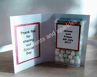 personalised tic tac favours
