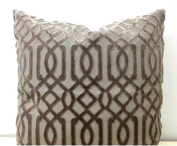 Most Expensive Throw Pillows : Dark Beige Luxury Velvet Throw Pillow Velvet Pillow Cover