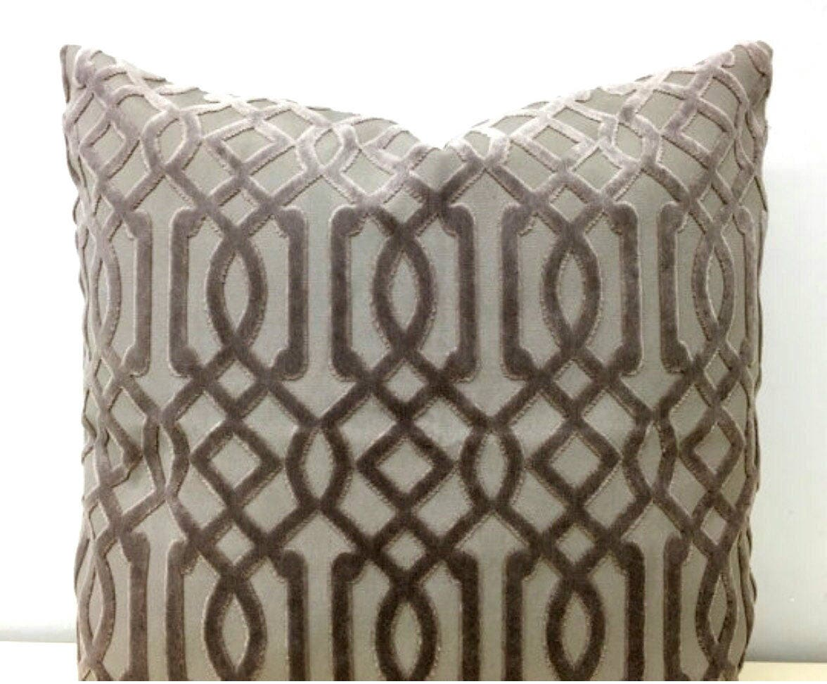 Dark Beige Luxury Velvet Throw Pillow Velvet Pillow Cover