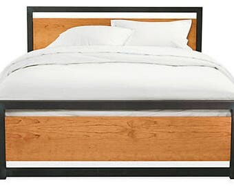 Reclaimed Industrial chic king size bed