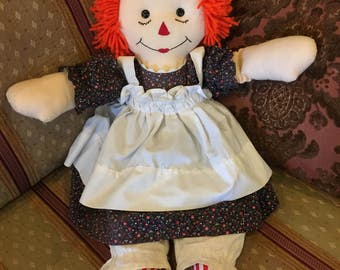 Raggedy Ann Andy Doll I Love You on Heart