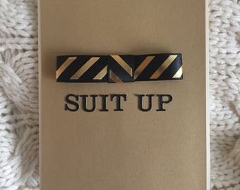Suit Up! How I Met Your Mother Reference - Bowtie Greeting Card - A2 Handmade, Artisan Line