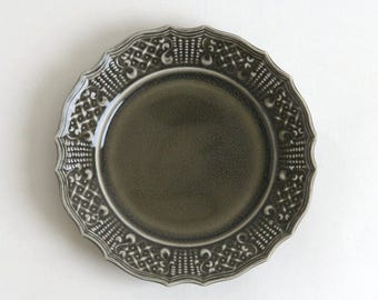 Knit relief plate 7 inch (gray), Made to Order in 2 months ; Shintaro Abe (16005904K-6G)