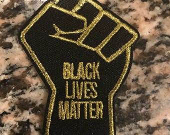 Black Lives Matter Fist Patch (Velcro or Iron On)