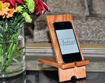 FREE GIFT!, iPhone Stand, iPad Stand, Wood Stand, Wood Smartphone Stand, Wooden Dock, Table Stand, Docking Station, Gift, Rustic