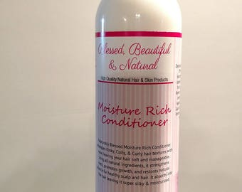 All Natural Hair Moisture Rich Conditioner, Natural Hair Care, Organic Conditioner