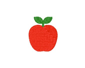 Apple Machine Embroidery Design – Instant Download (PES, DST, and MORE)