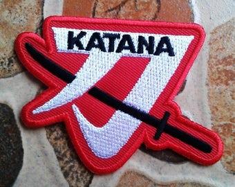 Katana samurai patch.