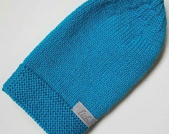 Turquoise merino beanie, blue beanie, knit beanie, merino hat, wool hat, warm hat, winter beanie, wool beanie, knit beanie, blue hat