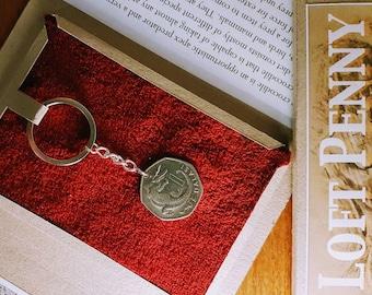 Coin Keyring, Crocodile Keyring, 19th birthday gift, Gambia coin, Nile Crocodile, collectable keyring, Gift, unique, unusual gift, present.