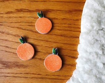 Sweet orange hair clip