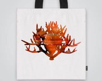 Bush of Fire Tote  Bag Shoulder Bag Market Bag Art Print