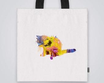 Kitten Tote Bag Shoulder Market Bag Art Print
