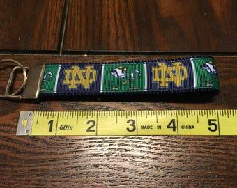Notre Dame NCAA Key Fob/Chain/Wristlet