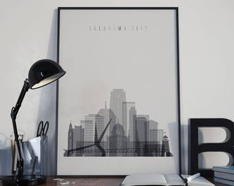 Oklahoma City Art Oklahoma Watercolor Oklahoma Wall Art Oklahoma Multicolor Oklahoma Skyline Oklahoma Wall Decor Oklahoma City Poster