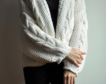 Hand knitted cardigan - S-M-L