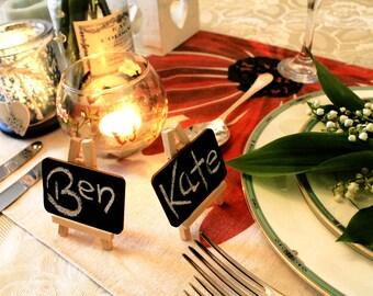 Table Top Number Holder Restaurant, Mini Blackboard Easel for Name / Number - Place card holder for Wedding Christening Party Restaurant
