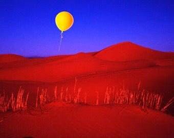 Yellow Balloon over Sahara