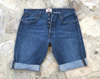 Vintage Boho Style Levi's 501 Jean Shorts, Mom Shorts