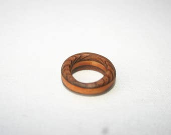 Wooden ring made in Hawaii from 100% locally reclaimed material