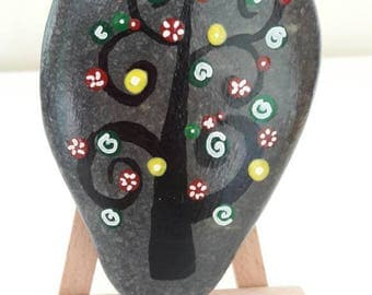 """Painted Stones No. 3 """"A tree of life"""", Home decor, Gifts"""