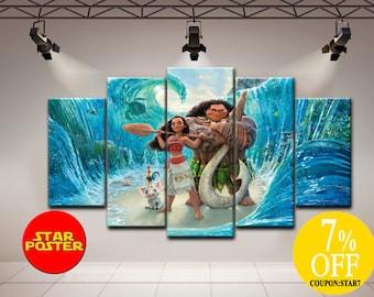Moana canvas, Kids room wall art, Moana wall art, Disney canvas art, Moana print, Disney wall art, Kids room print, Kids room canvas, Canvas